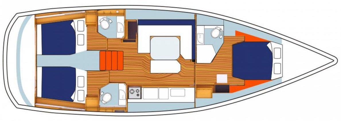 Sunsail 47-foot Monohull Interior