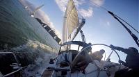 sailing 45 degree action