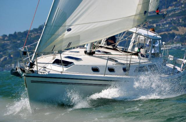 Charter a boat from Modern Sailing School and Club and explore the San Francisco Bay.  Students in the Gold Fleet Upgrade Course are learning the ropes on a 33 - 39 foot sailboat.