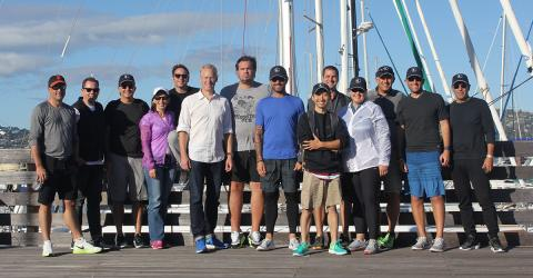 Nike spends the day sailing with Modern Sailing School And Club on San Francisco Bay participating in a Corporate Team Building Event and Race
