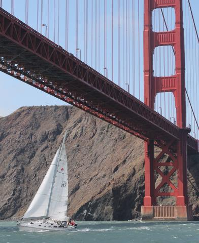 Charter a sailboat and sail under the Golden Gate Bridge